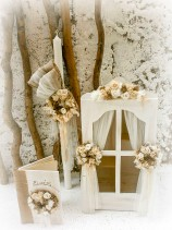 Πρωτότυπο βαπτιστικό σετ Flower View Window για κορίτσι που αποτελείται από βαπτιστικό κουτί βιτρίνα - παράθυρο, βαπτιστική λαμπάδα και ένα πανέμορφο βιβλίο ευχών.